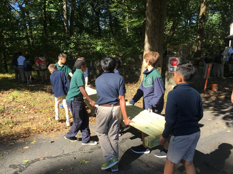 Middle School Students Help Complete Eagle Scout Service Project
